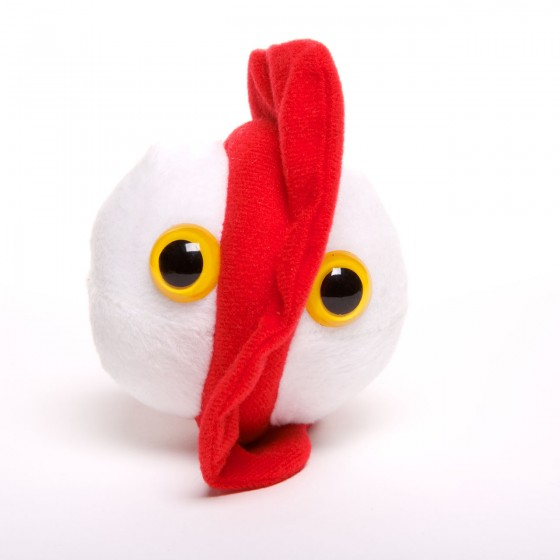 picture of a chicken pox soft toy
