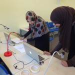 Young people creating animation