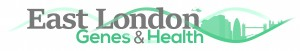 East London Genes and Health logo