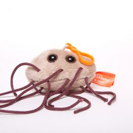 picture of e. coli keychain