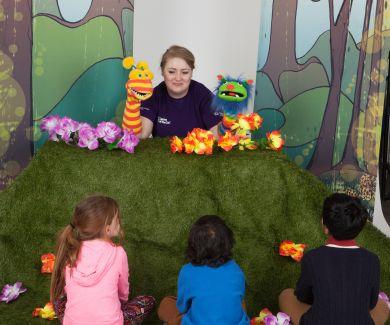 A Mummy for Melissa puppet show