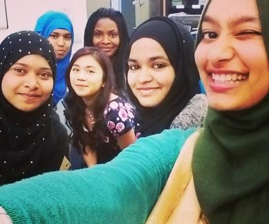 Youth members taking a selfie