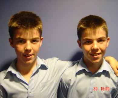 Picture of identical twin boys