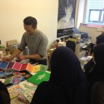 Young people working with graphic designers
